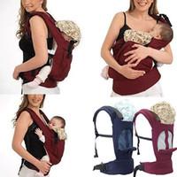 cavaleiros do bebê venda por atacado-2019 Nova Respirável Macio Multi-função Strap Algodão Bebê Mochila Infantil Baby Carrier Sling Wrap Rider