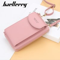 Wholesale cell phone wallet money case for sale - Group buy Baellerry brand Women Wallet purse money bag Phone Bag Leather Case For iPhone Samsung Huawei quality guarantee