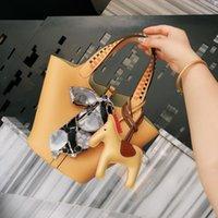 bolsos de cuero de diseñador de marca genuina al por mayor-2019 de la marca de lujo de diseño de moda bolsas de bolsos de las mujeres bolsos de cuero genuino crossbody bolsa de asas de las mujeres de la nueva llegada de cartera