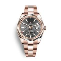 платиновые часы высокого класса оптовых-Роскошные швейцарские часы автоматические механические мужские часы спортивные военные розовое золото из нержавеющей стали мужские часы 326933 326934 326935 Orologio