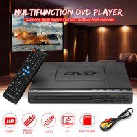 ray diski toptan satış-Taşınabilir Çoklu Oynatma DVD Oynatıcı ADH DVD CD SVCD VCD Disk Oynatıcı Ev Sinema Sistemi Ile Romote Kontrol 110 V-240 V USB