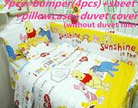 Wholesale girl bedding ruffled resale online - Promotion Cartoon Newborn Baby Bedding Set Girl Baby cradle crib cot bedding set duvet cover cm