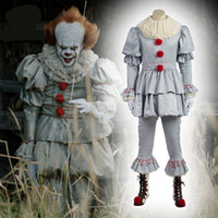 máscaras do palhaço do horror venda por atacado-É de Stephen King Máscara Pennywise Horror Clown Joker máscara de palhaço Halloween Cosplay Props Horror Pennywise