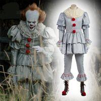 joker requisiten großhandel-Stephen Kings Es Maske Pennywise Horror Clown Joker Maske Clown Halloween Cosplay Props Horror Pennywise