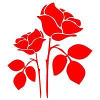 schwarze lila rosen großhandel-Rosen wählen Ihre Farbe Vinyl Ausschnitt für Ihr Auto Fenster Aufkleber Autozubehör Auto Aufkleber