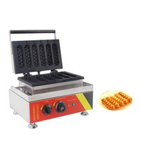 sosisli fabrikası toptan satış-Qihang_top Fabrikası Ticari Mısır Hot Dog Waffle makinesi Makinesi / Elektrikli Muffin Hotdog Baker Maker 110V 220V Yapımı