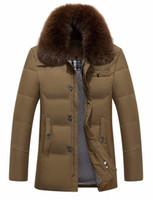 Wholesale men business parka for sale - Group buy Winter Business Men s Down Hot Design Long Sleeve Warm Coat Cotton padded Slim Fit Men Thicken Casaco Masculino Parkas