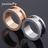 ingrosso espansore d'oro-Tunnel Plug Stahl Glitter Glitzer Rose Gold 4-20mm Acciaio inossidabile ear plug expander piercing monili del corpo