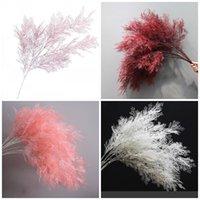 ingrosso erba a colori-Falso Fiore Nebbia Codifica Plastica Colore puro Sei forchette Fiori artificiali Nebbioso Pine Grass Celebrazione del matrimonio 6 8hqE1
