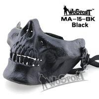 Wholesale tactical skull half face mask resale online - WoSporT Skull Mask Tactical Halloween Party Devil Half Face Mask TPU Fabric cm Colors