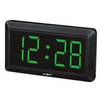 большие светодиодные часы оптовых-Digital Electronic Wall Clo With Large LED Number Also For Desk Beside Not Alarm Clo 33X17X3.5cm Super Big Size