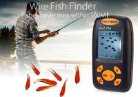 clúster lcd al por mayor-Buscador de peces Detector de peces Cable de ultrasonidos Agrupación de cardúmenes Banco de buscadores de peces Buscador de peces 30-1000 MHZ Sonar Cableado Pantalla LCD Sonda Buscador de profundidad Alarma
