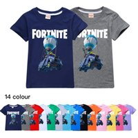 Wholesale yellow baby clothes unisex for sale - Group buy Fortnite fashion trend children s clothing cotton summer casual tops boys and girls short sleeved T shirt Baby Kids Tops507