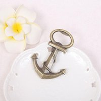 Wholesale metal souvenirs for wedding for sale - Group buy Creative Boat Anchor Metal Beer Bottle Opener Wedding Souvenirs Anchor Shaped Bottle Opener Birthday Anniversary Gift For Guest RRA2861