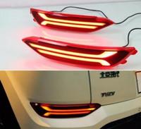 hyundai rücklicht großhandel-Freies verschiffen 2 STÜCKE Nebelschlussleuchte Für Hyundai Tucson 2015 2016 12 V Auto LED Heckstoßfänger Bremslicht Fließende Blinker Reflektor
