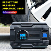 Wholesale portable car tire air pump for sale - Group buy 12V Digital Tire Inflator Cylinder PSI Car Portable Air Compressor Pump For Car Motorcycles Bicycles Rubber Boat