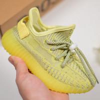 bebés varones pequeños grandes al por mayor-Adidas Yeezy Boost 350 V2 Zapatillas de deporte Antlia para niños grandes Zapatillas de deporte Kanyewest para niñas pequeñas Zapatillas para correr Kanye West para niños