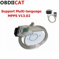 cable usb ecu al por mayor-10 unids / lote MPPS V13.02 V13 K CAN Flasher Chip Tuning ECU Programador MPPS V13 OBD2 16Pin a USB Interfaz Cable de diagnóstico automático