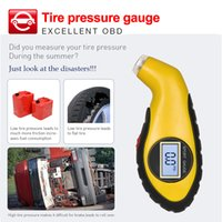 Wholesale tyre tester for sale - Group buy Diagnostic Tools tire pressure gauge Meter Manometer Barometers Tester obd Digital LCD Tyre Air For Auto Car Motorcycle Wheel