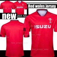 mochilas de rugby vermelho venda por atacado-2019 2020 Red Wales equipamento de novo o rugby 19 jerseys 20 National Rugby League Wales NRL homens vermelhos tamanho S - 3XL