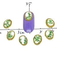 metal çerçeveler takılar toptan satış-10 Adet Kuru Çiçekler Nail Art Süslemeleri Takı Metal Takılar Manikür 3D Fotoğraf Çerçevesi DIY Taşlar Aksesuarları Süsler Çivi ...