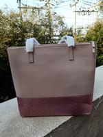 bolsos de brillo brillante al por mayor-Diseñador de la marca nuevo bolso de las mujeres brillantes brillantes del hombro bandolera bolsas de la compra totes brillo pu