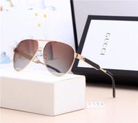 alten kasten großhandel-Hochwertige Designer-Sport-Sonnenbrille Luxus, der die antike Sonnenbrille Mens Fashion Driving Metal Frame Glasses UV400 mit Box-2 wiederherstellt