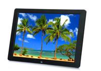 15 marco digital al por mayor-Nuevo 15 pulgadas Ultrafino HD TFT-LCD Marco de fotos digital Reloj despertador Reproductor de películas MP3 MP4 con escritorio remoto