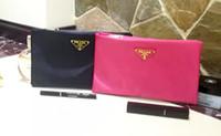 moda büyük cüzdanlar toptan satış-Ücretsiz kargo düz su geçirmez kozmetik çantası kadın büyük şeffaf yıkama gargara çantası bayan moda el çantası popüler cüzdan