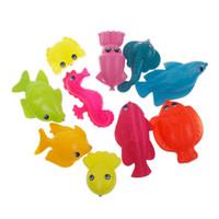 ingrosso giocattoli di pesce per i bambini-Giocattoli da pesca Nuovo giocattolo da pesca magnetico Canna Modello Net 10 Fish Kid Bambini Baby Bath Tempo Divertimento Gioco # 52748 Elettronica