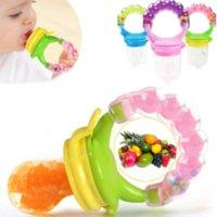 ingrosso alimentazione di alimenti per neonati-Ciuccio neonato bambino sicuro alimentazione ciuccio frutta vegetale alimentatore bambino trainning strumento di alimentazione cibo fresco alimentatore campana giocattolo