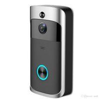 batería de la cámara de visión nocturna al por mayor-2019 NUEVO HD 720P WiFi Video Timbre de la cámara IR Visión nocturna Bidireccional Audio Funcionamiento de la batería Intercomunicador de teléfono de la puerta