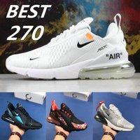 siyah erkekler spor koşu ayakkabıları toptan satış-[En iyi Kalite] Kapalı Buharlar 270 Stephanie 3 M Bukalemun Üçlü Siyah Beyaz Tasarımcı Sneakers Erkekler ve Kadınlar Hava Spor Koşu Ayakkabıları 720 Eğitmenler