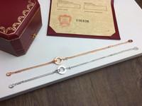 ingrosso un braccialetto d'amore-FAHMI Classic LOVE Bracciale a doppio strato a doppio strato Originale One-to-One Bellezza Autentica galvanica Autentica lavorazione oro 18k