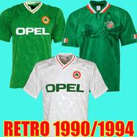 camisetas de futebol para equipes venda por atacado-Top tailândia copo do futebol 1990 camisa de futebol 1992 camisa de futebol 1994 Ireland retro República da Irlanda Selecção Jerseys Mundo verde kit