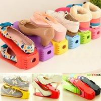 oficina 10 ranuras para zapatos para el hogar duradero para ahorrar espacio gris doble capa de pl/ástico ajustable doble zapatero