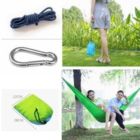 Wholesale beds cot resale online - 36 Colors cm Nylon Single Person Hammock Parachute Fabric Hammock Travel Hiking Backpacking Camping Hammock Swing Outddoor Bed AAA501