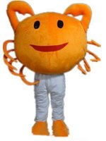 Wholesale movie quality costumes sale for sale - 2019 High quality the head an orange crab mascot costume for adult to wear for sale for party