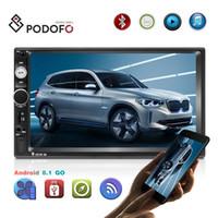 receptor de televisión chino al por mayor-Podofo Android 8.1 Doble Din Car Radio7 '' 1080P de coches reproductor de DVD de alta definición con Bluetooth WIFI GPS FM Radio Receptor + 8 LED de visión trasera IR