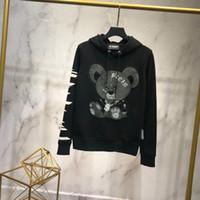 bräunung 3xl großhandel-Sweatshirt mit kühlen Bären bequeme Hoodies Braun Grau Größe M-3XL Schöne Mens Hoodies Marke Designer Hooded Luxuy