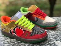 zapatos de baloncesto de las mujeres de buena calidad al por mayor-Buena calidad Dunk SB Low Pro lo que los pares de zapatos de baloncesto de las parejas no lloran Diamante Amarillo Negro Hombres Mujeres Zapatillas de deporte 36-45