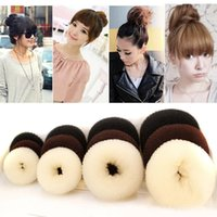 Wholesale tool for ring sizes resale online - Donuts Hair accessories Sizes Hair Styling Ring Style Dispenser Buns Head Tool Ring headband hair bands for women