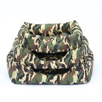 Wholesale camouflage beds resale online - 2019 Dog Bed Mat House Pad Warm Winter Pet House Camouflage Bed With Kennel Waterproof Bottom House Drop Shipping Cama Perro