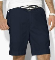 shorts de surf de algodão venda por atacado-Moda-relaxado-fit robusto algodão shorts Verão polo Board Shorts pequeno cavalo bordado Havaiano Ralph Men praia surf Calças swim shorts