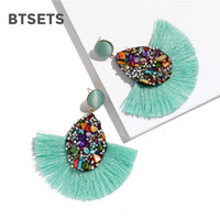 Wholesale earring statement tassel for sale - Group buy Colorful Crystal Fashion Tassel Earrings For Women Statement Charm Earings Fashion Jewelry Wedding Bridal Fringe Earring