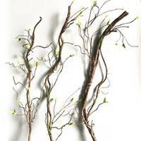 vides de arboles al por mayor-90cm Real Touch Fake Tree Branches Rattan Artificial Flower Vine para Home Hotel Garden DIY Decoración Guirnalda Scrapbooking Floral