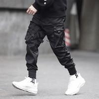 cargaison multi poche achat en gros de-Hommes Pantalon Hip Hop Pantalon Multi Poche Pantalons À La Mode Et Décontractés Pieds De Loisirs Pantalon Pantalon Hip Hop Cargo Harajuku Pantalon