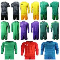 Wholesale blank football jersey shirts for sale - Group buy Soccer Jerseys Uniform Kit Adult Men Goalie Blank T shirt Without Team Logo With Ad NK Long Sleeve Football Shirt