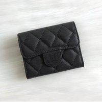 ingrosso prezzo della scatola della moneta-2018 Fashion Design Breve portafoglio in vera pelle cavier Fold Porta biglietti da visita portamonete con scatola buon prezzo