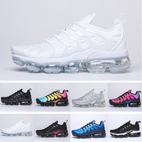 Wholesale best shoes for camping resale online - 2020 TN PLUS Running Shoes For Men Women Black Speed Red White Anthracite Ultra White Black Best Designers Sneakers NM5632